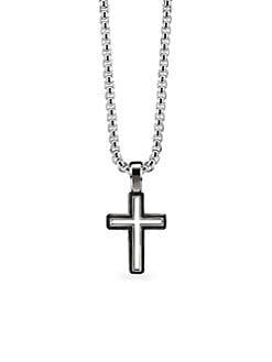 fcd69618d5b4 David Yurman. Roman Cross Sterling Silver Enhancer Pendant
