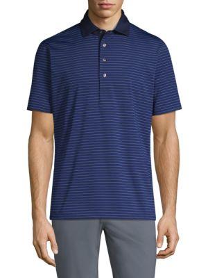 Greyson Erie Stripe Short-Sleeve Polo