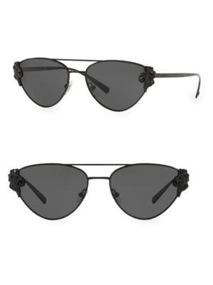 Tribute 56Mm Aviator Sunglasses - Black Solid