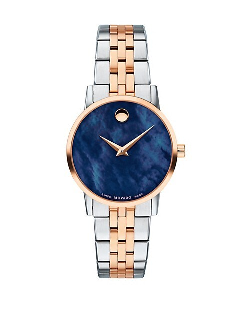 Classic Rose Gold & Stainless Steel Bracelet Watch