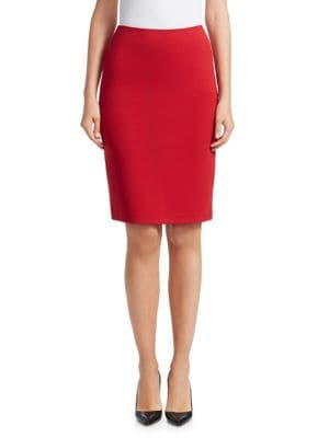 Stretch Jersey Pencil Skirt by Emporio Armani