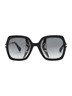 8c951cc6c08f Jimmy Choo. 53MM Jonas Tortoiseshell Large Sunglasses