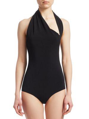 HALSTON HERITAGE Bodysuits Iconic Halter Bodysuit