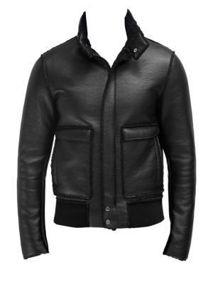 EFM-ENGINEERED FOR MOTION Gatton Faux Shearling Bomber in Black