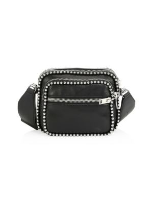 Attica Large Ballchain Crossbody Bag, Black