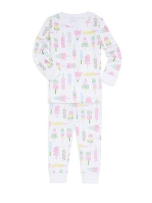 Babys  Little Girls TwoPiece Popsicle Pajama Set