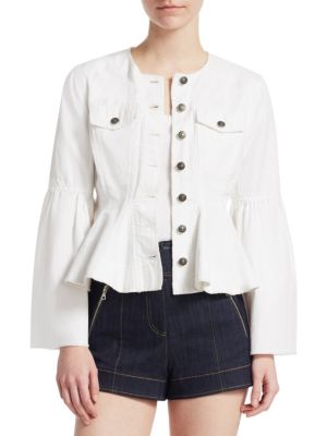 Cinq A Sept Ruffled Jacket - White, Bright Light