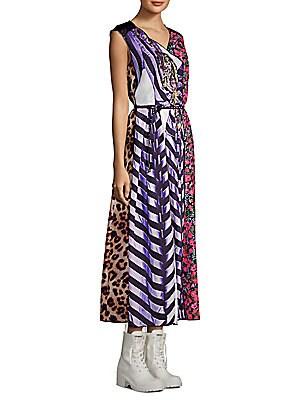 Photographic Stripe Midi Dress by Marc Jacobs