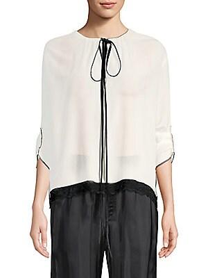 438006527f287 Marc Jacobs - Silk Tie-Neck Blouse - saks.com