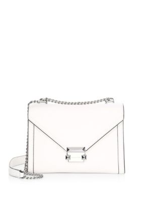Michael Michael Kors Whitney Large Leather Shoulder Bag In Optic White 60f47571f6