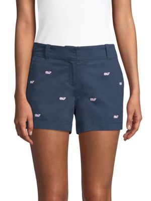 Vineyard Vines Cottons Whale Embroidered Chino Shorts