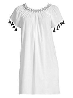 798f706f1a Vineyard Vines. Smocked Tassel T-Shirt Dress
