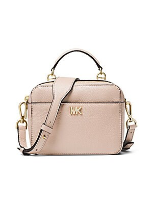 759c08f0ca4415 MICHAEL Michael Kors - Mott Mini Pebbled Leather Crossbody - saks.com