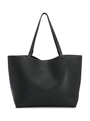 30ed3129fcb9 The Row - Grainy Leather Bowling Bag - saks.com