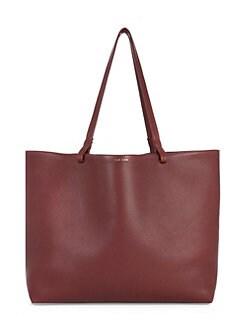 f974fa39f5f20 QUICK VIEW. The Row. Lux Grained Leather Shopper Tote