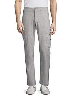 Saks Fifth Avenue COLLECTION Solid Corduroy Pants Men Brown Pants Shorts dfn 87945
