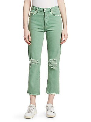 65926c2ffe1705 MOTHER - Tomcat Hi-Rise Distressed Jeans - saks.com