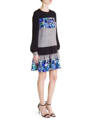 Ruffled Drop Waist Mini Dress by Emilio Pucci