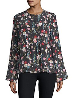 QUICKVIEW. Equipment. Heather Floral-Print Blouse