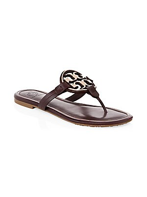 64480c84fba0 Tory Burch - Miller Leather Thong Sandals - saks.com