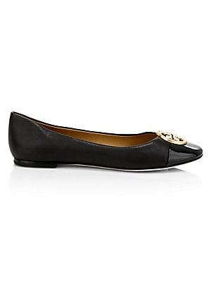 4f9e569e3 Tory Burch - Miller Patent Leather Logo Thong Sandals - saks.com