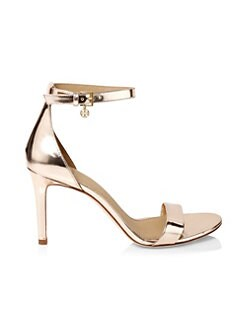 28d1536dbb4dd8 QUICK VIEW. Tory Burch. Ellie Metallic Leather Ankle-Strap Sandals
