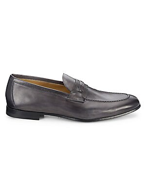 ac83be1322d Salvatore Ferragamo - Fiorino 2 Textured Leather Penny Loafers ...