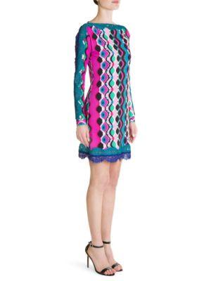 Marilyn Lace Hem Sheath Dress, Multi