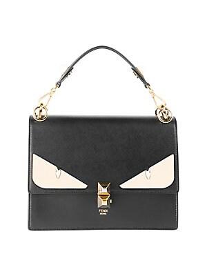 367380e8ca Fendi - Kan I Monster Eye Black Shoulder Bag - saks.com