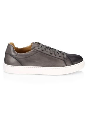 Collection By Magnanni Burnished Leather Lace Up Sneaker by Saks Fifth Avenue