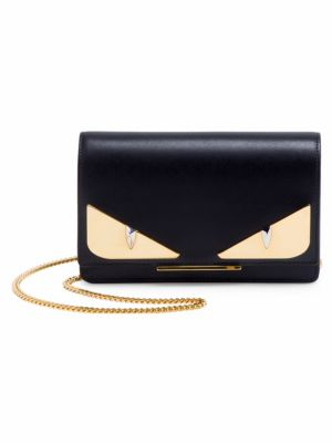 Shiny Monster Liberty Wallet On A Chain, Black