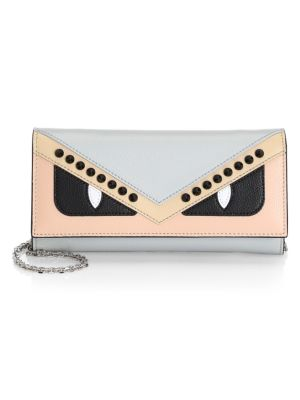 Monster Calf Leather Small Wallet-On-Chain, Multi