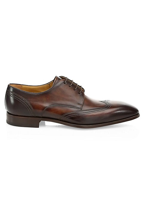 Image of EXCLUSIVELY OURS. Leather upper. Almond toe. Lace-up vamp. Leather lining. Padded insole. Leather sole. Imported.