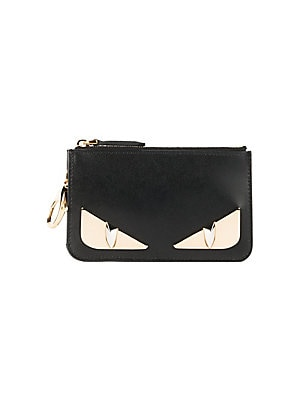 c261351d5c Fendi - Monster Black Zip Coin Purse - saks.com