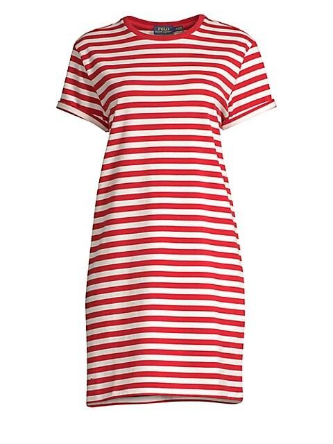 Striped Cotton Jersey T-Shirt Dress