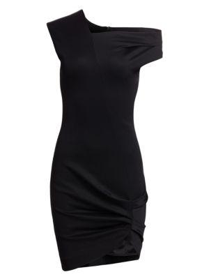 Helmut Lang Asymmetrical Drape Dress