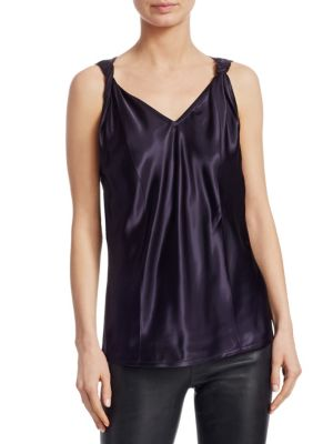 Twisted Sleeveless V-Neck Top in Blue