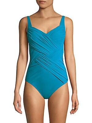 912a55903 Gottex Swim - Mystic Gem Squareneck One-Piece Swimsuit - saks.com