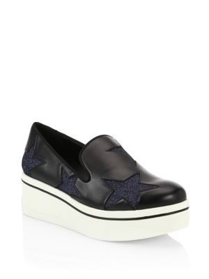 Binx Stars Slip-On Platform Sneaker, Black/ Deep Blue