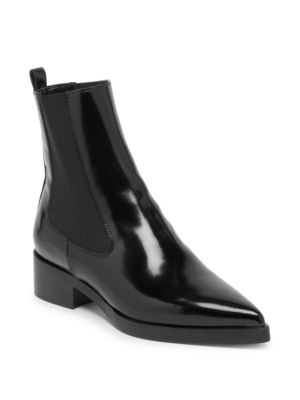 Point Toe Chelsea Boots, Black