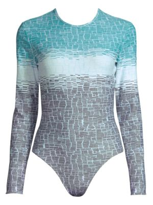 THORSUN Collins Long-Sleeve Swimsuit in Blue