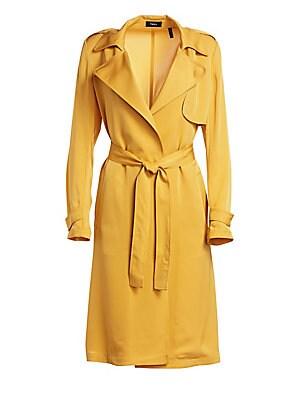 e5aa1bb10d Theory - Oaklane Modern Silk Trench Coat - saks.com