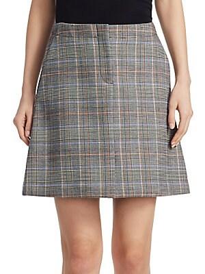 de68b35e8c Theory - High Waisted Plaid Skirt - saks.com