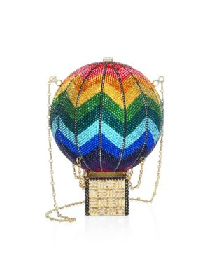 Swarovski Crystal Rainbow Hot Air Balloon Clutch, Multi