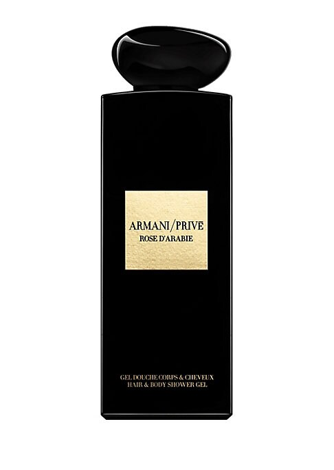 Image of A body wash with the Haute Couture fragrance of Armani/ Prive Rose d'Arabie. Start your fragrance ritual in the shower, bathe in luxury with a body wash inspired by the secrets of the Armani hotel. 6.7 oz. Made in France. TOP NOTES. Damask rose. Crimson.