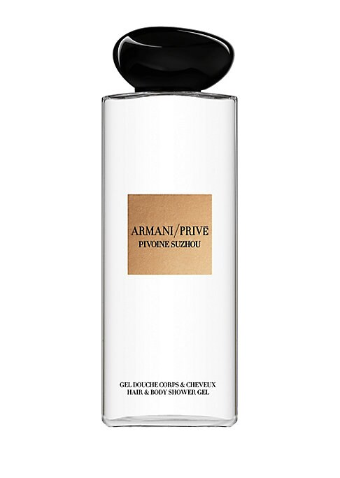 Image of A body wash with the Haute Couture fragrance of Armani/ Prive Pivoine Suzhou. Start your fragrance ritual in the shower, bathe in luxury with a body wash inspired by the secrets of the Armani hotel. Inspired by the gardens of beauty and harmony of the cla