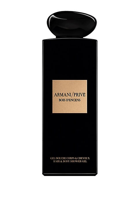 Image of A body wash with the Haute Couture fragrance of Armani/ Prive Bois d'Encens. Start your fragrance ritual in the shower, bathe in luxury with a body wash inspired by the secrets of the Armani hotel. The Bois d'Encens luxury eau de parfum showcases Somalian