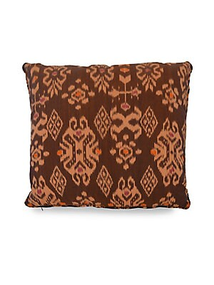 "Image of This cotton pillow comes with piping and concealed zippers. Inserts included 22""W x 22""L Cotton Spot clean Imported. Gifts - Decorative Home. Andrianna Shamaris."