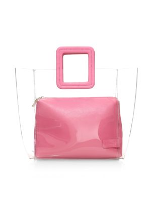 Staud Totes Shirley PVC & Leather Tote