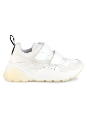Eclypse Faux Leather, Suede And Neoprene Sneakers, White